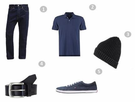 Męska paka ubrań r. L - XL Piere Cardin Nike polo