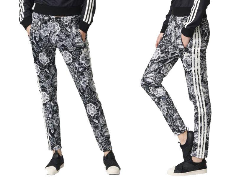 Spodnie dresowe damskie Florido SST TP Adidas Originals (czarno białe)