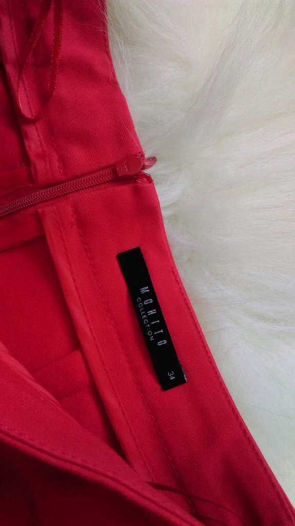 Czerwona spódnica Mohito XS rozkloszowana 7532587231
