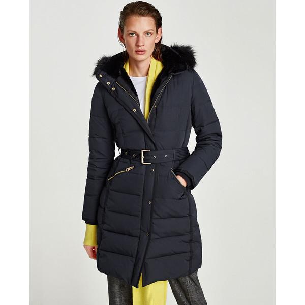 ZARA BASIC Płaszcz kurtka zimowa puchowa NOWA M pń