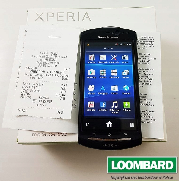 Sony Xperia Neo V Pudelko 7556059132 Oficjalne Archiwum Allegro