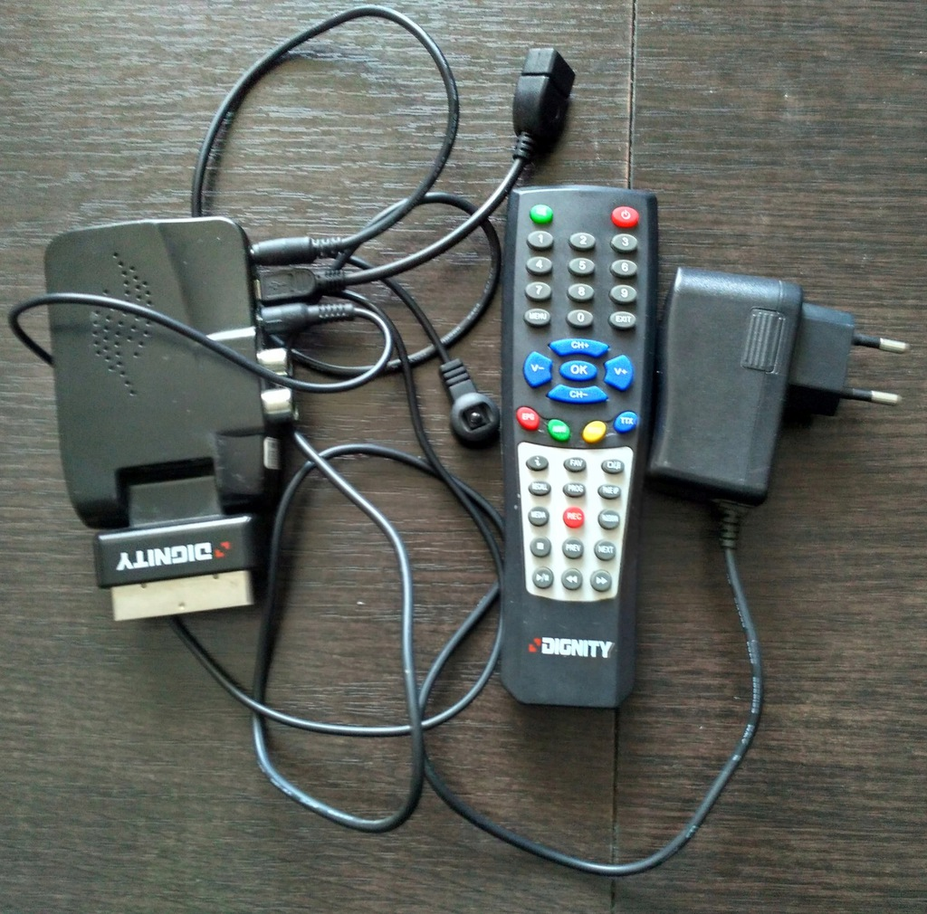 Telewizja Cyfrowa Tuner MPEG4 Dekoder Dignity DVBT