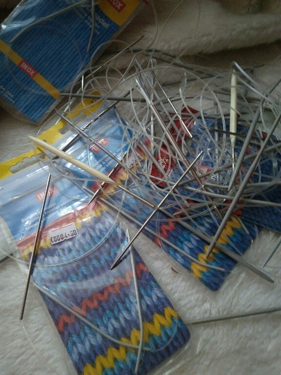 zestaw druty dziewiarskie na żyłce N2