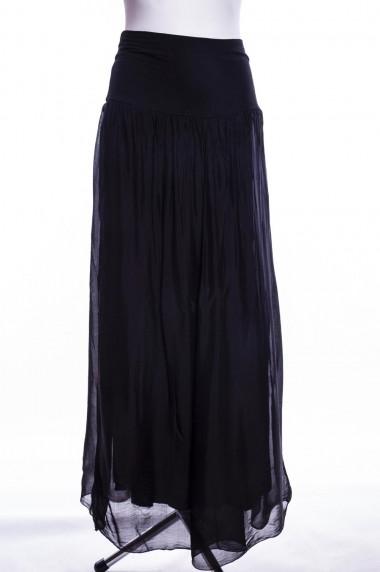 GUMA BŁĘKITNA spódnica wiskoza długa marszczona www