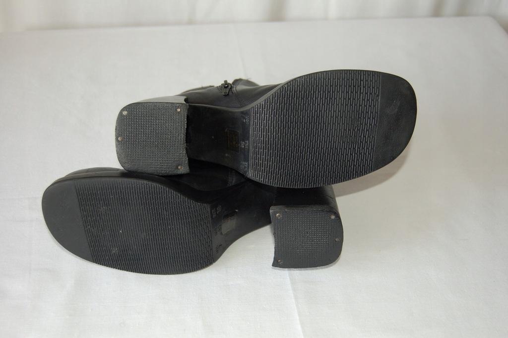 Botki skórzane czarne,brazylijskie,platforma r. 38