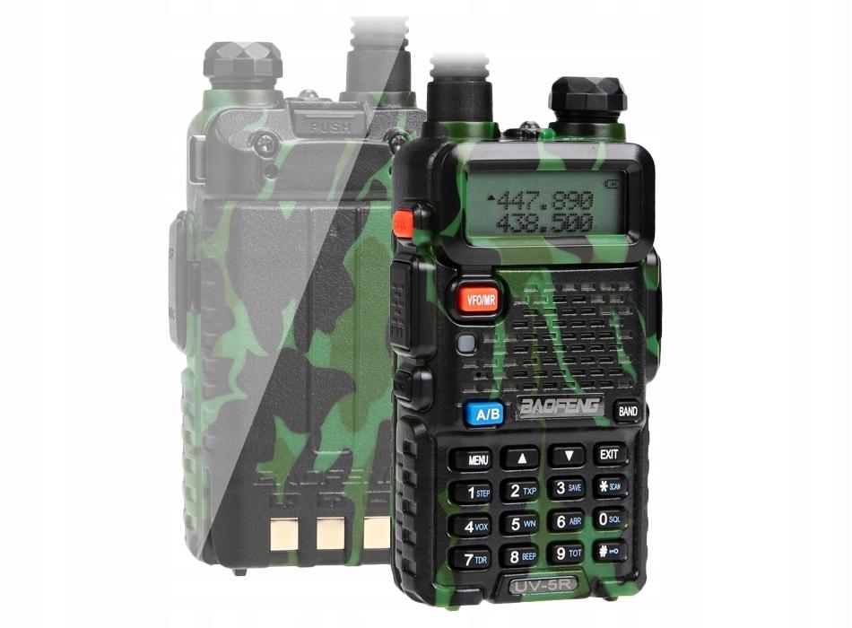 Radiotelefon BAOFENG UV5R CAMOUFLAGE 5W dualbander