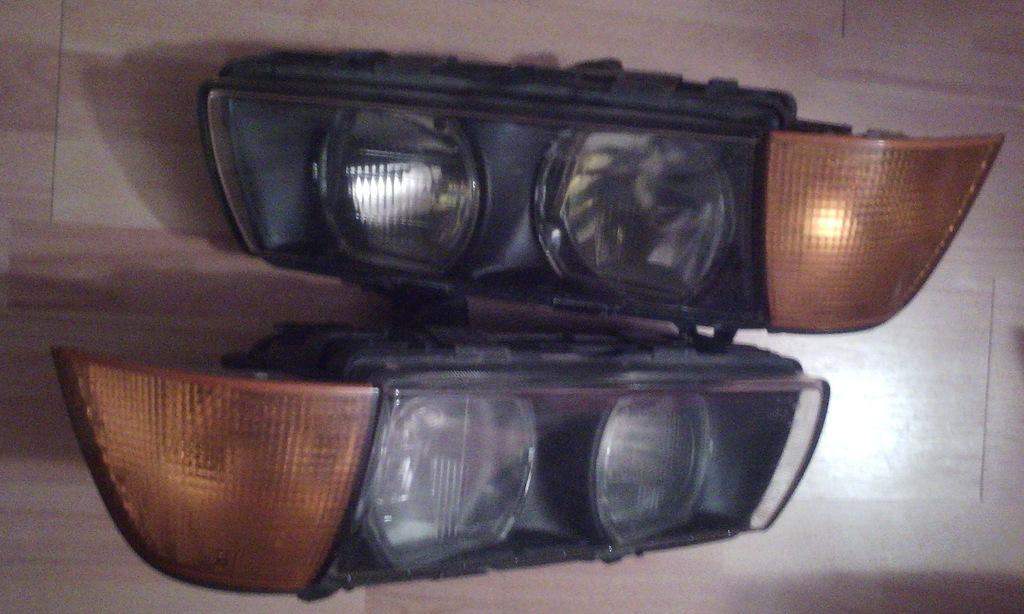 BMW E36 2 lampy przednie ZKW reflektory 2 kierunki