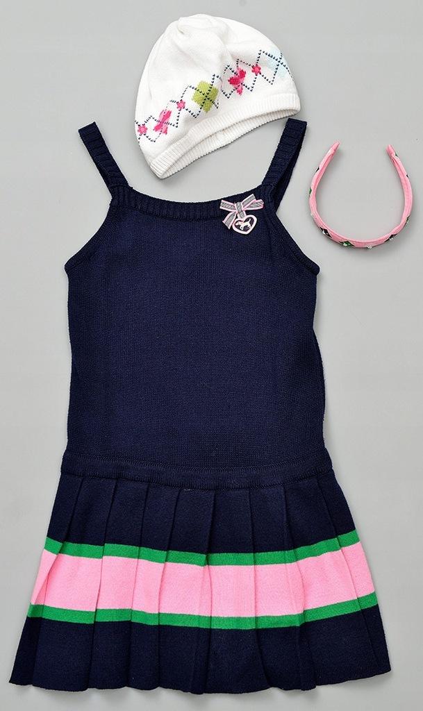 gymboree smart girls sukienka czapka opaska 122