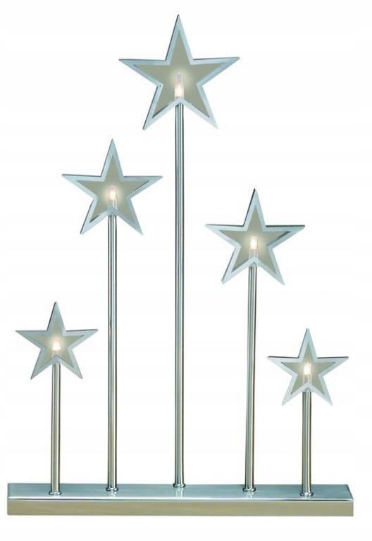 Swiecznik Adwentowy Gwiazdki Metalowy Srebrny Led 7723020403 Oficjalne Archiwum Allegro