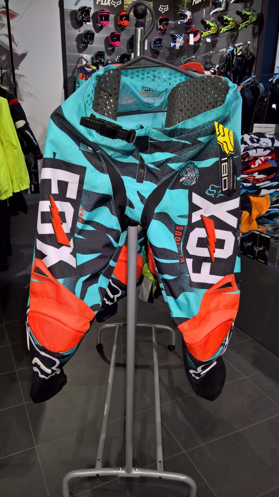 Spodnie Fox 180 Junior Aqua roz. Y28