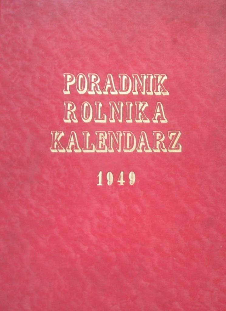 Poradnik Rolnika Kalendarz 1949 Uszkodzony 6885599204 Oficjalne Archiwum Allegro