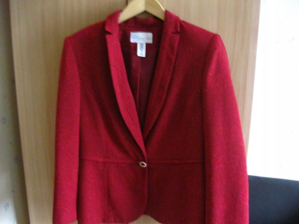Liz Claiborne -kostium,garsonka,czerwona USA 42/44