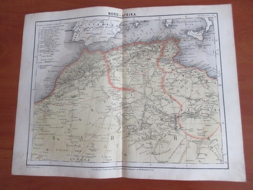 SAHARA MAROKO ALGERIA LIBIA  1867 ROK