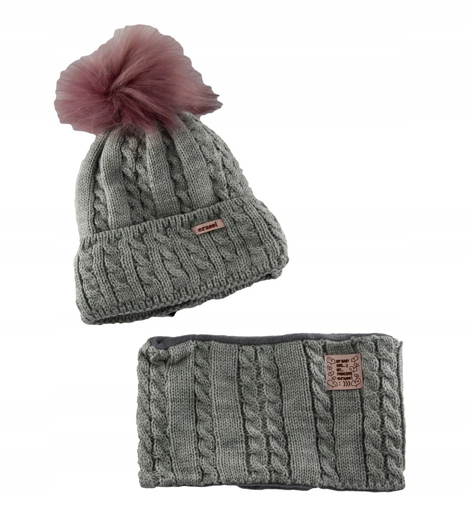 Ciepły komplet zimowy czapka + komin