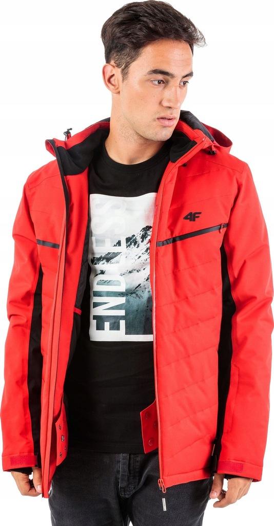 4f kurtka narciarska męska h4z18-kumn005 czarny