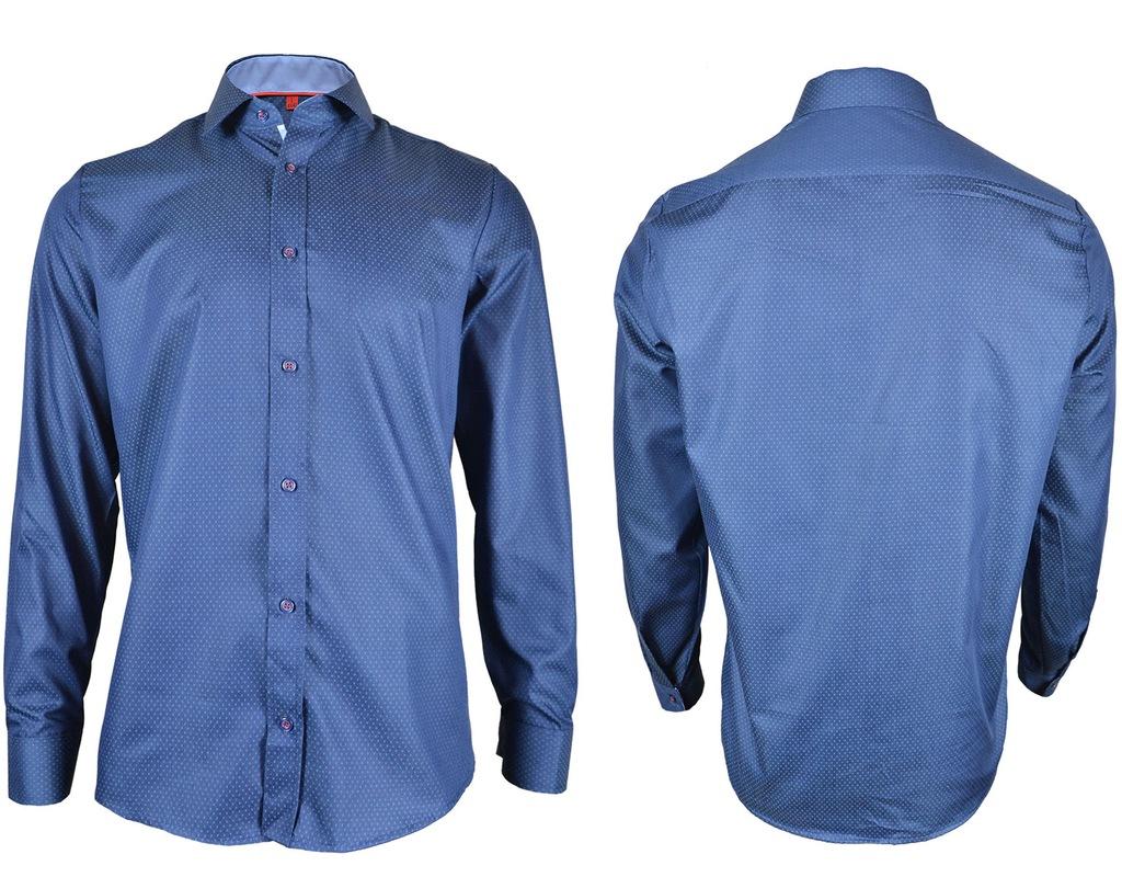 Koszula Malinex 119 Slim_80% Bawełna_M (39 40) 7598607480  lNSVB
