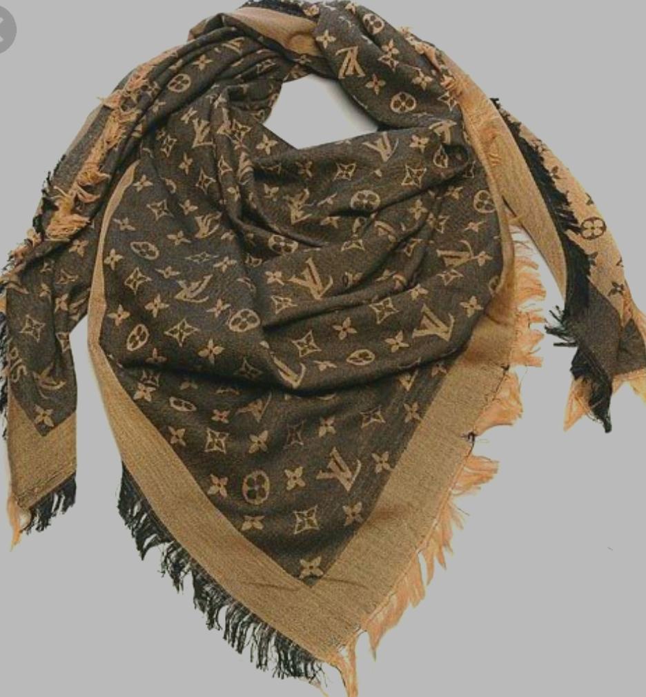 Chusta Szal Louis Vuitton Brazowa 7088040531 Oficjalne Archiwum Allegro