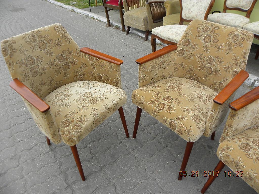KRZESŁA z lat 80 tych foteliki krzesłofotele 4 szt