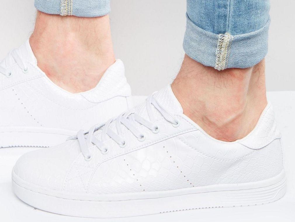 Białe Buty Sportowe Trampki Męskie 44
