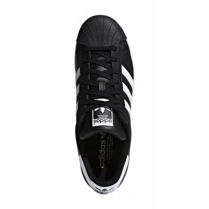 Czarne Skórzane Buty Sportowe Adidas r.46