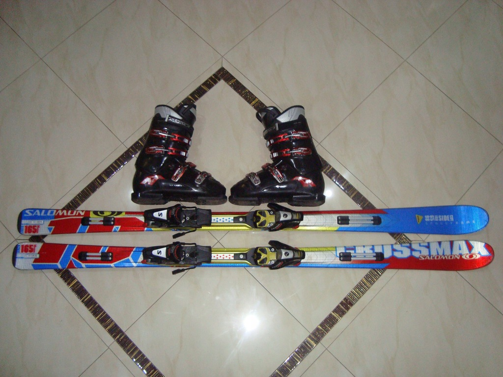 SUPER KOMPLET NARTY SALOMON CROSS 165+BUTY 28,5CM