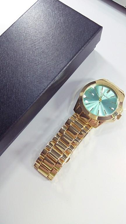 Zegarek Michael Kors MK miętowy pozłacany pudełko