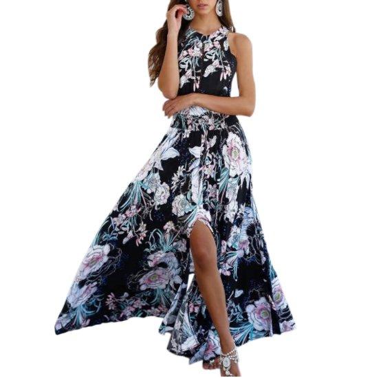 Boho Sukienka Maxi Dluga Lato Plazowa Dekolt Plecy 7209782975 Oficjalne Archiwum Allegro