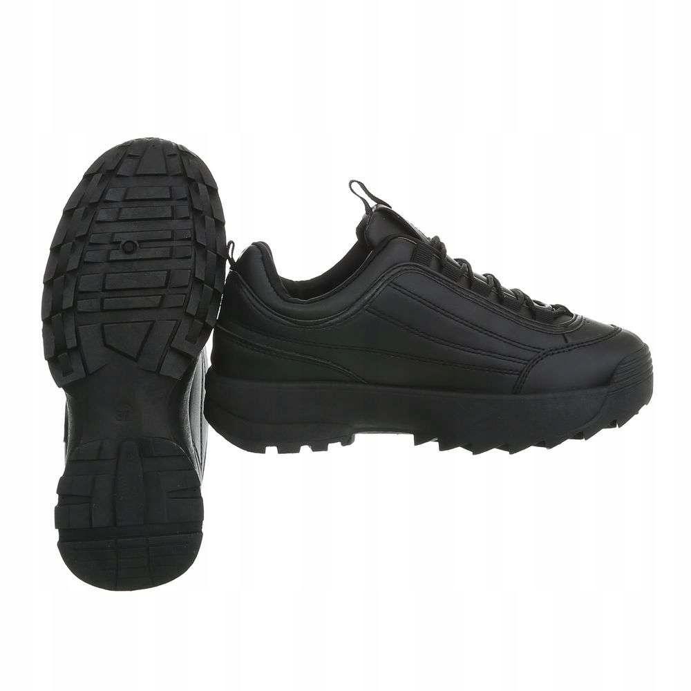 Sportowe buty na grubej podeszwie. Czarne 40