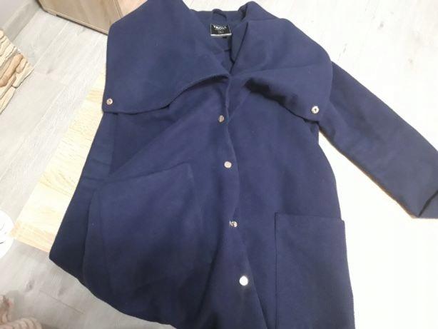 Granatowy płaszcz Top Secret XL