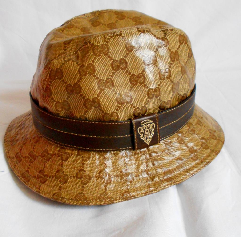 GUCCI  piękny kapelusz czapka S 54/55