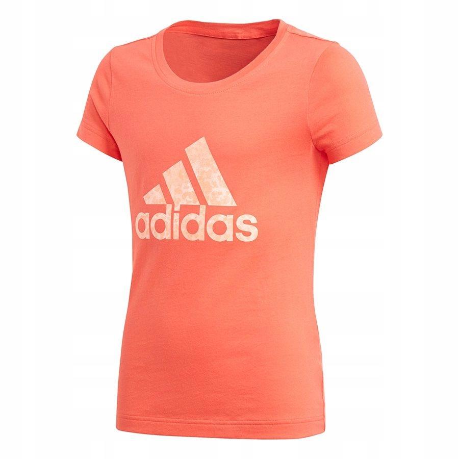 Koszulka adidas YG Logo Tee CF7255 140 cm czerwony
