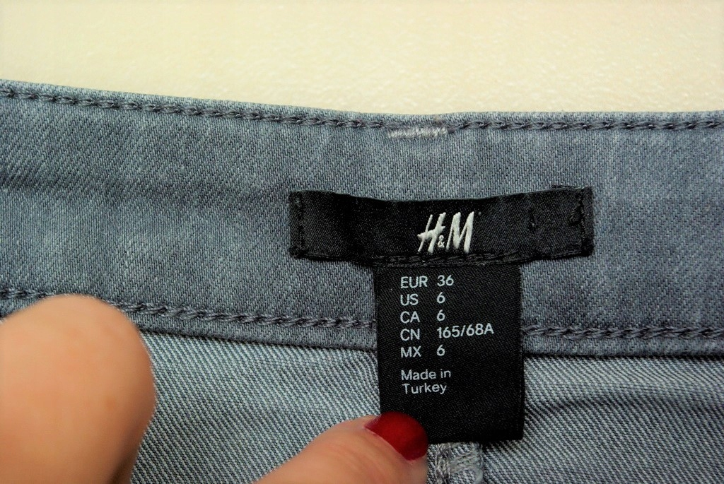 H&M SPÓDNICA OŁÓWKOWA R 3436