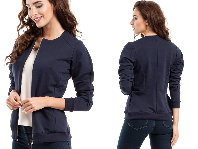 bluza rozpinana damska bomberka allegro