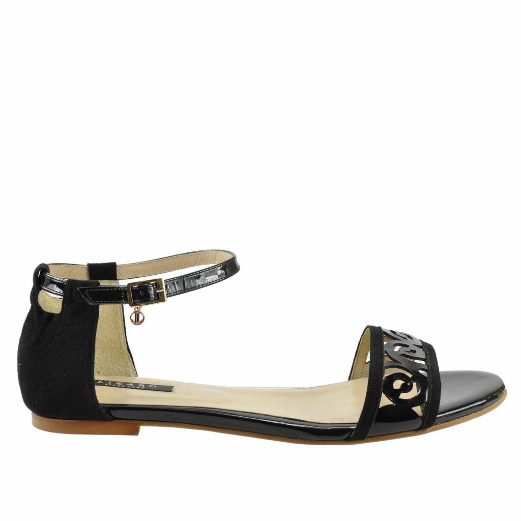 Duże sandały damskie Lizard 2285 czarne 42 27,5 cm