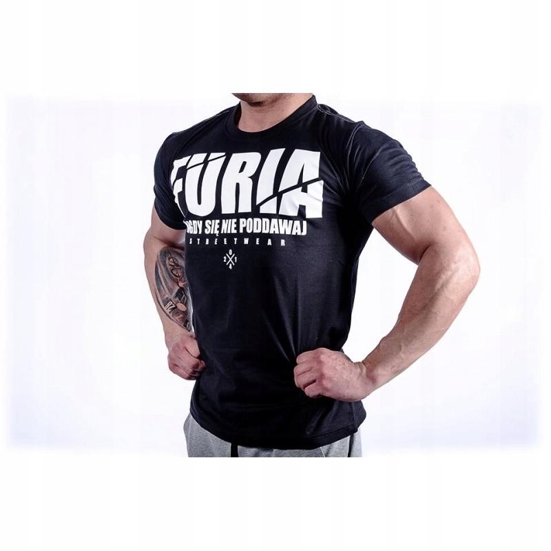 Koszulka T Shirt Furia Na Silownie Trening R Xl 7563851758 Oficjalne Archiwum Allegro