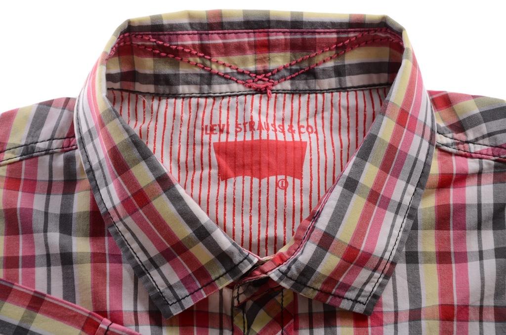 LEVI'S koszula w kratkę krótki rękaw L k 43 [LS]