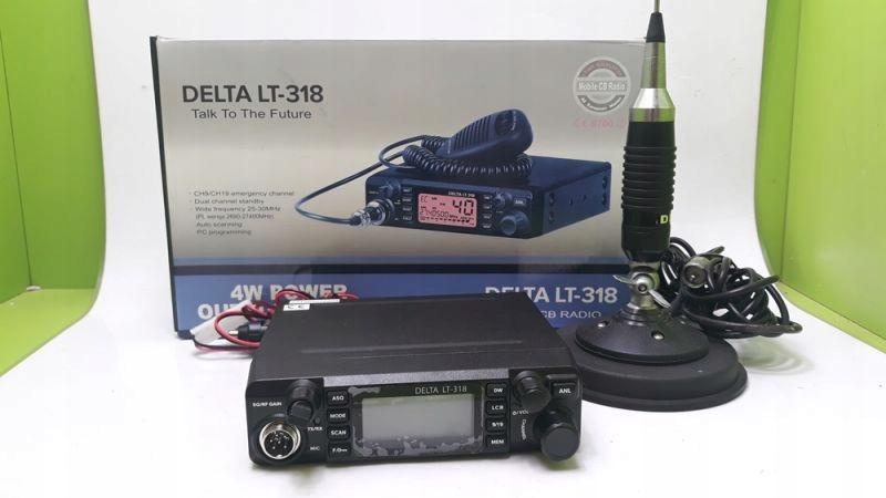 CB RADIO DELTA LT-318 + ANTENA DELTA 862