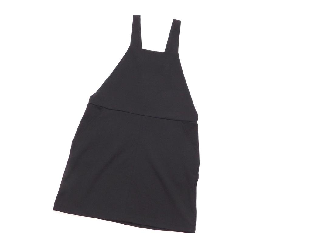 Nowa czarna mini sukienka ogrodniczka na szelkach rozmiar 40