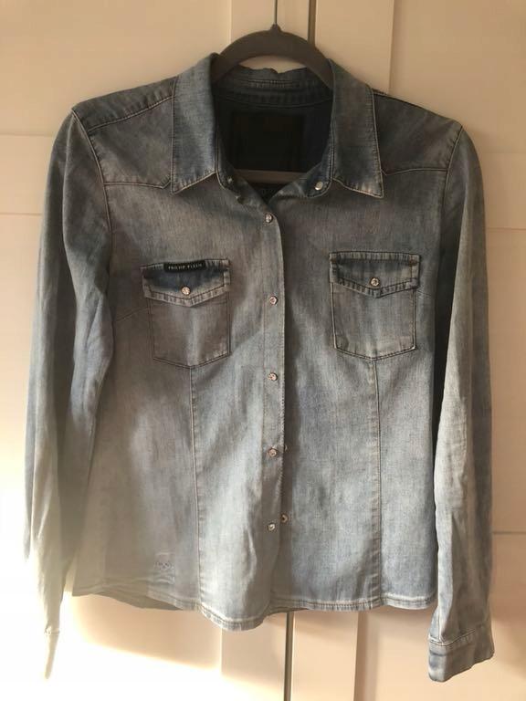 Philipp plein jeansowa koszula s