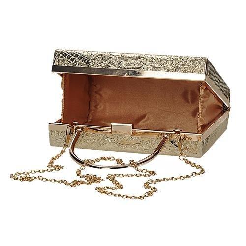 Złota wizytowa torebka damska na łańcuszku TOM