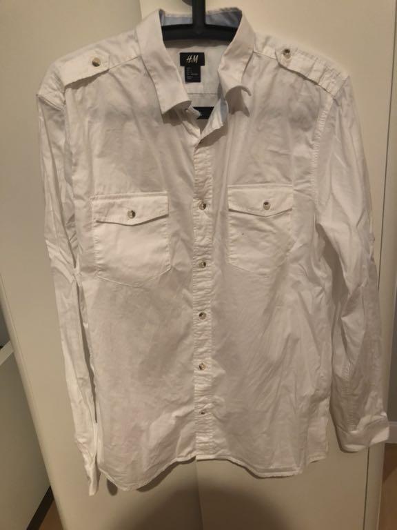 H&M koszula super stan biała lato L 40