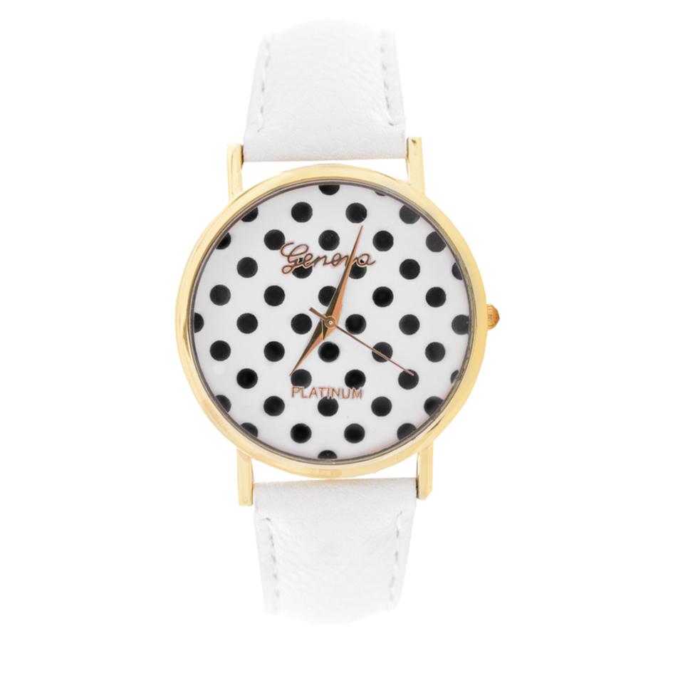 Zegarek Dziecięcy w Kropeczki Dziewczynki Biały