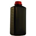 Butelka czarna z nakętką 1000 ml  na chemię