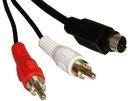 Kabel wtyk SVHS S-VIDEO / 2x wtyk RCA 5m (1481)