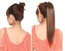 50cm KUCYK kitka DOPINKA clip in włosy naturalne !