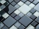 Mozaika szklana mix szary 25+48 HIT Wykoki połysk