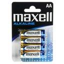 Baterie bateria alkaliczna AA LR6 Maxell 4 sztuki