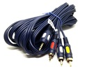 Przyłącze kabel CHINCH 3x RCA na JACK3.5mm 4p 5m