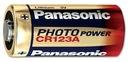 BATERIA LITOWA PANASONIC 3V CR123 DL123 CR123A 123