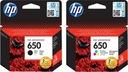 tusze HP 650 czarny +  kolor ORYGINAŁ  1515 2515